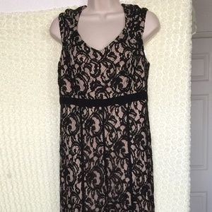 MILLY Embroidered Dress BLACK Size M #56